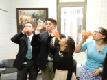 The district enjoying some Orange Fanta.