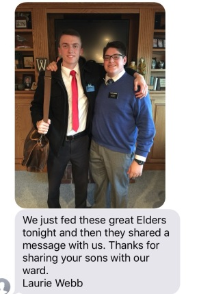 Text we received from Sister Laurie Webb